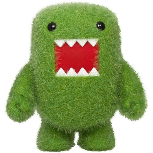 Flocked Love Green Domo Qee