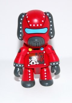 Robot Dog figure by Steven Lee, produced by Toy2R. Front view.
