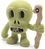 Death figure by Jeremyville, produced by Kidrobot. Front view.