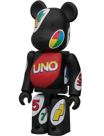 Uno - Pattern Be@rbrick Series 22  figure, produced by Medicom Toy. Front view.
