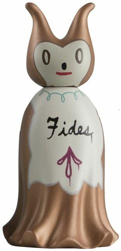 Trust figure by Gary Baseman, produced by Kidrobot. Front view.