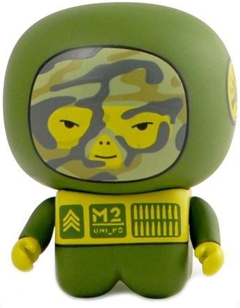 M2 Unipo Hype figure by Unklbrand, produced by Unklbrand. Front view.