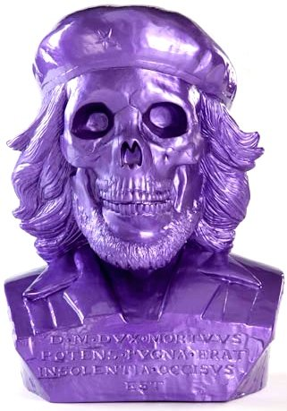 Dead Che Bust figure by Frank Kozik, produced by Ultraviolence. Front view.