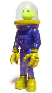 Yellow Man Peril (NYCC) figure by Sucklord, produced by Suckadelic. Front view.