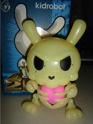 Build-A-Dunny figure by Kronk, produced by Kidrobot. Front view.