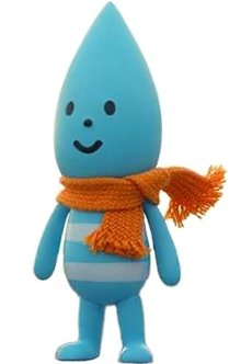 Little Raindrop figure by Fluffy House, produced by Fluffy House. Front view.