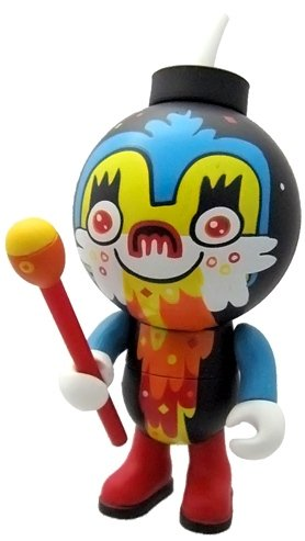 Hurley Magic Vomit Mouth figure by Jon Burgerman, produced by Jamungo. Front view.