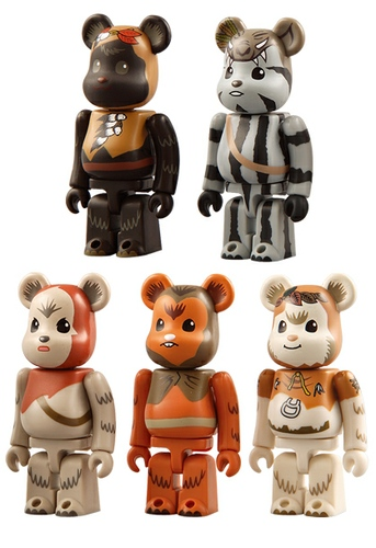 Teebo, Paploo, Lumat, Romba & Chief Chirpa Be@rbrick 100% Set