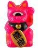 Mini Fortune Cat - Hot Pink - Black Collar