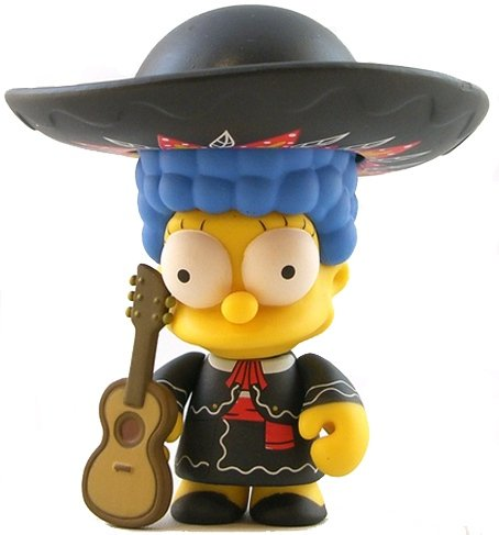 Mariachi Marge figure by Matt Groening, produced by Kidrobot. Front view.