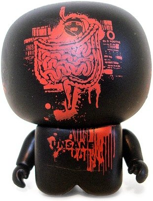 Unsane Unipo figure by Unklbrand, produced by Unklbrand. Front view.