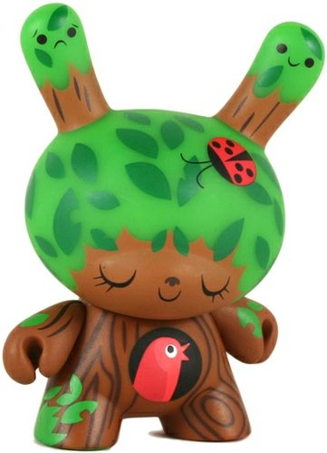 Dunny Fatale figure by Anna Chambers, produced by Kidrobot. Front view.