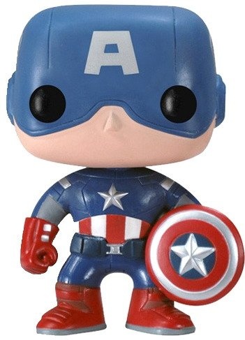 POP! Captain America (The Avengers Movie) figure by Marvel, produced by Funko. Front view.