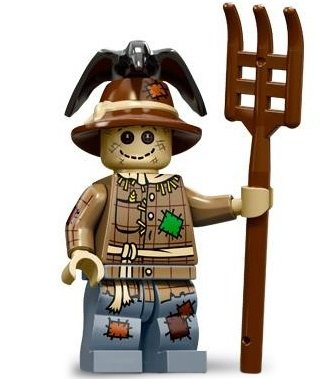 Scarecrow figure by Lego, produced by Lego. Front view.
