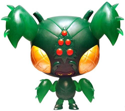 Mata-Micci Midori: One-Up Exclusive figure by Erick Scarecrow, produced by Esc-Toy. Front view.