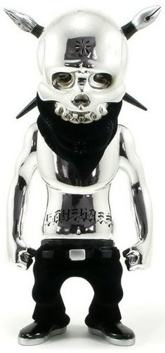 Rebel Ink - Premium Silver  figure by Usugrow, produced by Secret Base. Front view.