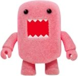 Flocked Pink Domo Qee figure by Dark Horse Comics, produced by Toy2R. Front view.