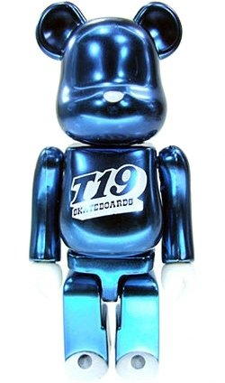 T19 Skateboards - Secret Be@rbrick Series 16 figure by T19 Skateboards, produced by Medicom Toy. Front view.