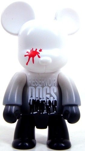 Reservoir Dogs Qee - White figure by Toy2R, produced by Toy2R. Front view.