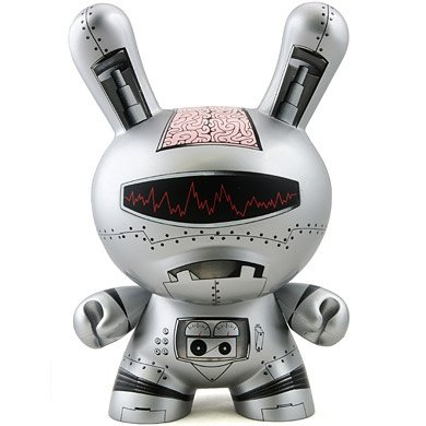 robodunny figure by Der, produced by Kidrobot. Front view.