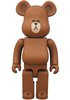 Line Be@rbrick 400% - Brown
