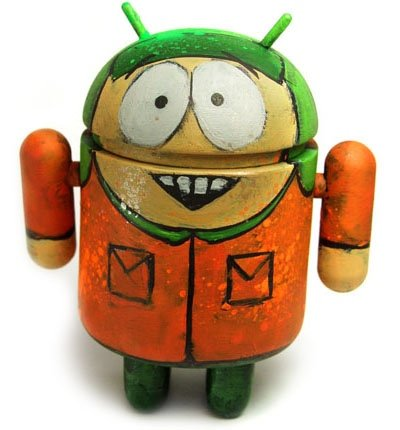 Kyle Android figure by Leecifer. Front view.