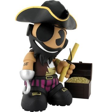 Kidrobot Mascot 13 - Blackbeard figure by Sket One, produced by Kidrobot. Front view.