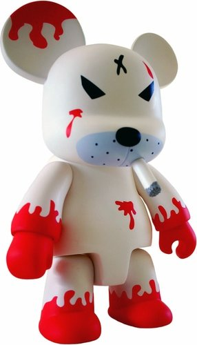 Redrum Bear 8 Qee (Regular) figure by Frank Kozik, produced by Toy2R. Front view.