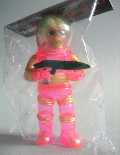 #023 Space Troopers - VX Clear Pink Painted figure, produced by Toygraph. Front view.