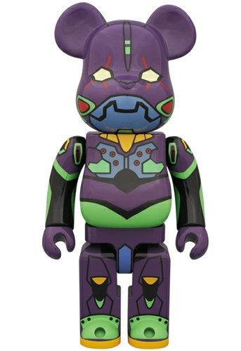 Evangelion First Unit Be@rbrick 400% - Night Color Ver. figure by Neon Genesis Evangelion, produced by Medicom Toy. Front view.
