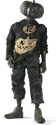 Charkin Zombkin figure by Ashley Wood, produced by Threea. Front view.