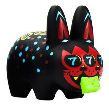 Labbit - Greed  figure by Kronk, produced by Kidrobot. Front view.