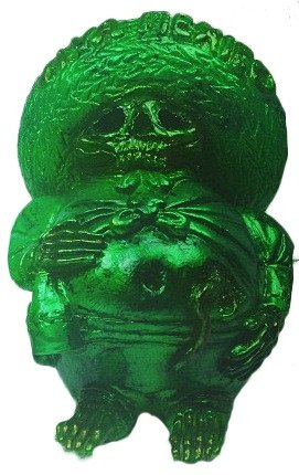 Dirty Shamrock figure by John Spanky Stokes. Front view.