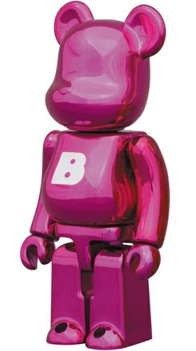 Basic Be@rbrick Series 25 - B figure, produced by Medicom Toy. Front view.
