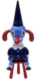 Goody2Shoes figure by Gary Baseman, produced by Sony Creative. Front view.