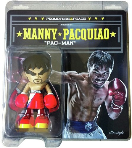 Manny Pacquiao 7 figure by Les Schettkoe, produced by Mindstyle. Front view.