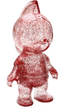Meato-kun (ミートくん) - Clear red lamé ver. figure, produced by Five Star Toy. Front view.