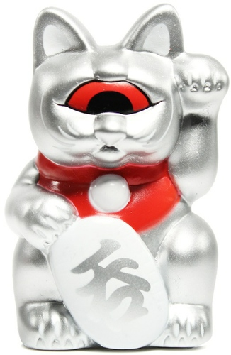 Mini Fortune Cat - Silver, SDCC '11