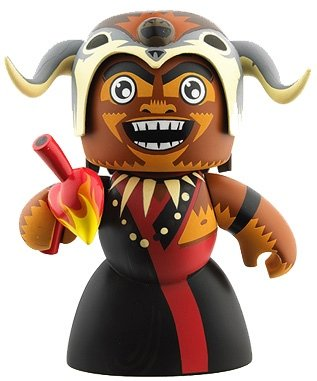 Mola Ram figure, produced by Hasbro. Front view.