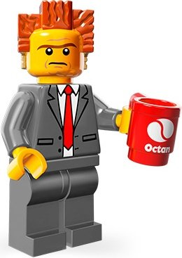 President Business figure by Lego, produced by Lego. Front view.