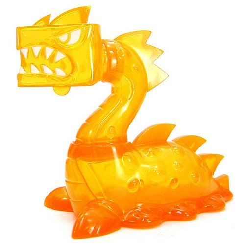 Sluggonadon - Clear Orange  figure by Joe Ledbetter, produced by Wonderwall. Front view.