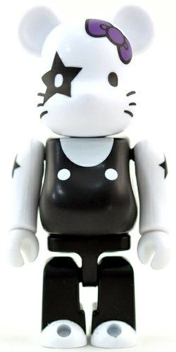 The Starchild - KISS x Hello Kitty - Secret Cute Be@rbrick Series 25 figure by Sanrio, produced by Medicom Toy. Front view.