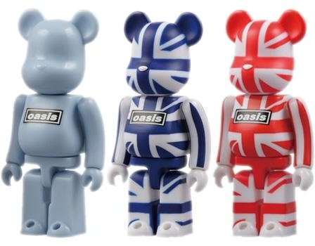 Oasis Be@rbrick 100% 3pc Set figure, produced by Medicom Toy. Front view.