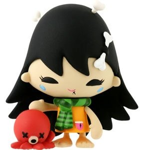 Momo figure by Tado, produced by Kidrobot. Front view.