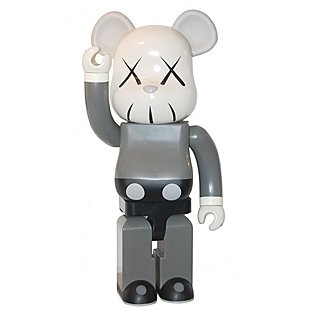 Kaws Companion Be@rbrick 1000% figure by Kaws, produced by Medicom Toy. Front view.