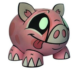 Joe Ledbetter Piggy Bank - Pink