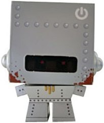 Cardbot figure by Mark James, produced by Amdc. Front view.