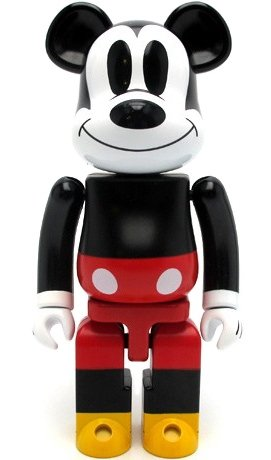Mickey Mouse Be@rbrick 200% figure by Disney, produced by Medicom Toy X Bandai. Front view.