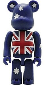 Australia - Flag Be@rbrick Series 7 figure, produced by Medicom Toy. Front view.