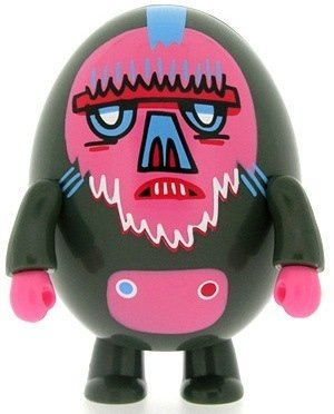 Bazoonoo figure by Jon Burgerman, produced by Toy2R. Front view.